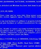 Toàn tập về lỗi màn hình xanh trên Windows