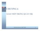 Bài giảng Quản trị học: Chương 6 - GV. Trần Đăng Khoa