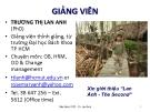 Bài giảng Thay đổi và phát triển tổ chức: Chương 1 - TS. Trương Thị Lan Anh