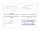 Bài giảng Sinh hóa học (Phần I: Sinh hóa học tĩnh): Chương VI