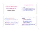 Bài giảng Sinh hóa học (Phần I: Sinh hóa học tĩnh): Chương VII