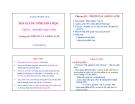 Bài giảng Sinh hóa học (Phần I: Sinh hóa học tĩnh): Chương III