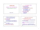 Bài giảng Sinh hóa học: Chương VI