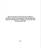 Báo cáo bổ sung của NGO cho báo cáo định kỳ lần thứ ba, thứ tư của Chính phủ về kết quả thực hiện Công ước Liên Hợp quốc về Quyền trẻ em tại Việt Nam giai đoạn 2002-2007