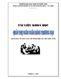 Bài giảng Quản trị ngân hàng thương mại: Chuyên đề 1 - ĐH Kinh tế Quốc dân