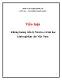 Tiểu luận: Khủng hoảng tiền tệ Mexico và bài học kinh nghiệm cho Việt Nam
