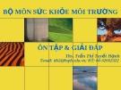 Bài giảng Sức khỏe môi trường: Chương 8 - ThS. Trần Thị Tuyết Hạnh