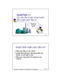 Bài giảng Phân tích tài chính - Chương 11: Các vấn đề cơ bản trong hoạch định ngân sách đầu tư