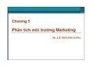 Bài giảng Quản trị marketing: Chương 5 - Dr. Lê Thành Long