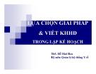 Bài giảng Quản lý y tế: Chương 5 - ThS. Đỗ Mai Hoa