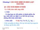 Bài giảng Hóa đại cương - CĐSP Nha Trang