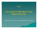 Bài giảng Bài 3: Các nguyên lý nhiệt động và ứng dụng trong y học - ĐHYK Thái Nguyên