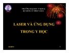 Bài giảng Laser và ứng dụng trong y học - ĐHYK Thái Nguyên