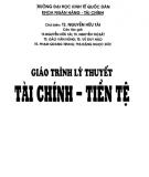 Giáo trình Lý thuyết tài chính - tiền tệ: Phần 1 - TS. Nguyễn Hữu Tài (chủ biên)