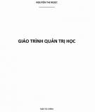 Giáo trình Quản trị học: Phần 1 - Nguyễn Thị Ngọc