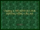 Bài giảng Kinh tế vĩ mô - Chương 3: Mô hình IS -l LM & đường tổng cầu AD