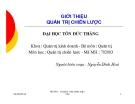 Bài giảng Quản trị chiến lược: Giới thiệu môn học - Nguyễn Đình Hòa