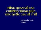 Bài giảng Chương trình y tế quốc gia: Chương 1 - TS. Nguyễn Tuấn Hưng