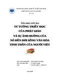 Tiểu luận môn triết học: Tư tưởng triết học của Phật giáo và sự ảnh hưởng của nó đến đời sống văn hóa tinh thần của người Việt
