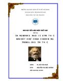 Tiểu luận Triết học: Chứng minh sự ra đời của triết học Mác đã tạo bước ngoặt cách mạng trong lịch sử triết học