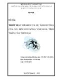 Tiểu luận Triết học: Triết học Hêghen và sự ảnh hưởng của nó đến đời sống văn hoá tinh thần của thời đại