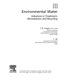 Environmental Water - Advances in Treatment, Remediation and Recycling