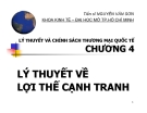 Bài giảng Lý thuyết và chính sách thương mại quốc tế: Chương 4 - TS. Nguyễn Văn Sơn