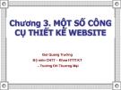 Bài giảng Thiết kế và triển khai website: Chương 3 - GV. Bùi Quang Trường