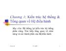 Bài giảng Hệ điều hành: Chương 1