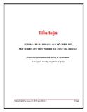 Tiểu luận: Sự phân cấp tài khóa và quy mô chính phủ một nghiên cứu thực nghiệm tại quốc gia châu Âu