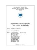 Tiểu luận: Thị trường tiền tệ Việt Nam thực trạng và giải pháp