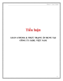 Tiểu luận: Lean 6 Sigma & thực trạng áp dụng tại công ty Jabil Việt Nam