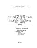 Tiểu luận: Phân tích mã chứng khoán công ty cổ phần khoáng sản và xây dựng Bình Dương (KSB)