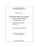 Luận văn Thạc sĩ Kinh tế: Hoạch định chiến lược tài chính của CTCP cơ điện Thủ Đức giai đoạn 2011-2020