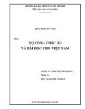 Tiểu luận kinh tế vĩ mô: Nợ công châu Âu và bài học cho Việt Nam