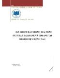 Tiểu luận: Kế hoạch đẩy nhanh quá trình sát nhập DaiAbank và HDbank tại sở giao dịch Đồng Nai