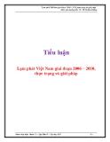 Tiểu luận: Lạm phát Việt Nam giai đoạn 2006 – 2010, thực trạng và giải pháp