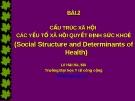 Bài giảng Xã hội học sức khỏe : Bài 2 - Lê Hải Hà, MA