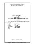 Hồ sơ bài giảng thực hành: Bài 17