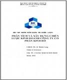 Bài tập nhóm Quản trị chiến lược: Phân tích và xây dựng chiến lược kinh doanh công ty cổ phần Kinh Đô