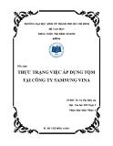 Tiểu luận: Thực trạng việc áp dụng TQM tại công ty SAMSUNG VINA