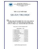 Tiểu luận Quản trị học: Văn hóa doanh nghiệp - yếu tố vàng cho sự thành công văn hóa doanh nghiệp tại Công ty Điện lực thành phố Hồ Chí Minh
