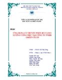 Tiểu luận quản trị sản xuất & điều hành: Ứng dụng lý thuyết phân bố và đo lường công việc tại công ty TNHH GREEN TECH