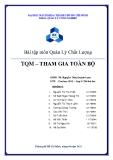 Bài tập quản lý chất lượng: TQM - tham gia toàn bộ