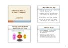 Bài giảng Hành vi sức khoẻ và lí thuyết về hành vi - Trương Quang Tiến