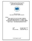 Bài tập cá nhân Thay đổi phát triển tổ chức: Thay đổi cơ cấu tổ chức phòng quan hệ khách hàng cá nhân tại ngân hàng TMCP đầu tư và phát triển Việt Nam – chi nhánh Bình Dương