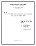 Tiểu luận: Xây dựng kế hoạch marketing cho sản phẩm dầu gội nam CLEAR MEN