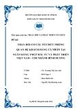 Tiểu luận thay đổi và phát triển tổ chức: Thay đổi cơ cấu tổ chức phòng quan hệ khách hàng cá nhân tại ngân hàng TMCP đầu tư và phát triển Việt Nam – chi nhánh Bình Dương