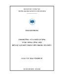 Luận văn Thạc sĩ Kinh tế: Ảnh hưởng của chất lượng cuộc sống đến sự gắn kết nhân viên trong tổ chức