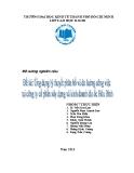 TIểu luận quản trị sản xuất & điều hành: Ứng dụng lý thuyết phân bố và đo lường công việc tại công ty cổ phần xây dựng kinh doanh địa ốc Hòa Bình